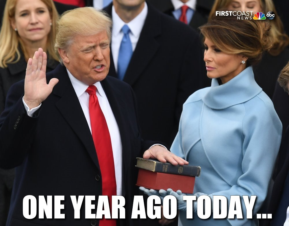 Donald Trump was inaugurated as the 45th president of the U.S. one year ago today. How would you rate his first year in office?