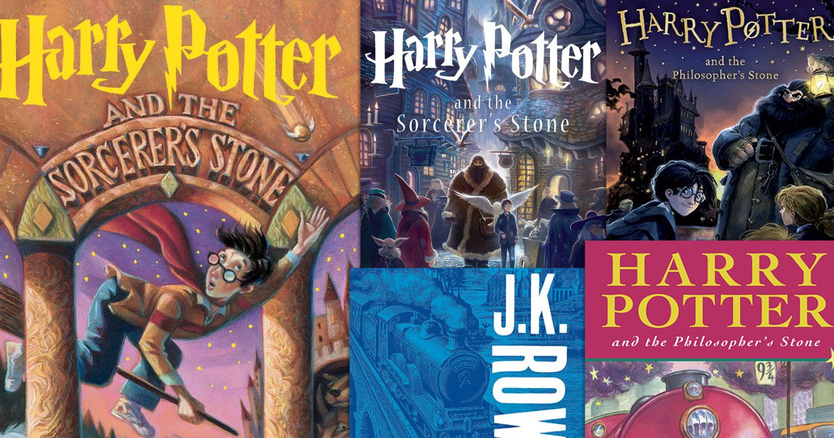 See the evolution of #HarryPotter book c...