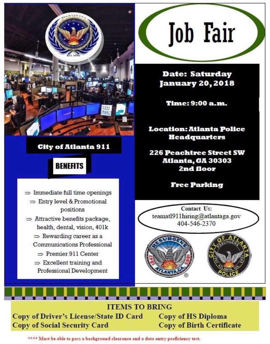 City of atlanta ga on twitter interested in a career with the interested in a career with the atlantapolice department apd is hosting a job fair today until 500 pm at 226 peachtree st sw aiddatafo Choice Image