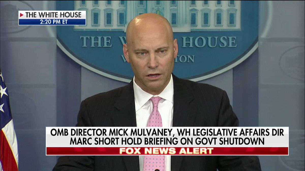 .@Marcshort45: 'The @WhiteHouse remains the same: that we will not negotiate the status of 690,000 unlawful immigrants while 100s of millions of taxpaying Americans, including 100s of 1000s of our troops in uniform... are held hostage by Senate Democrats.'