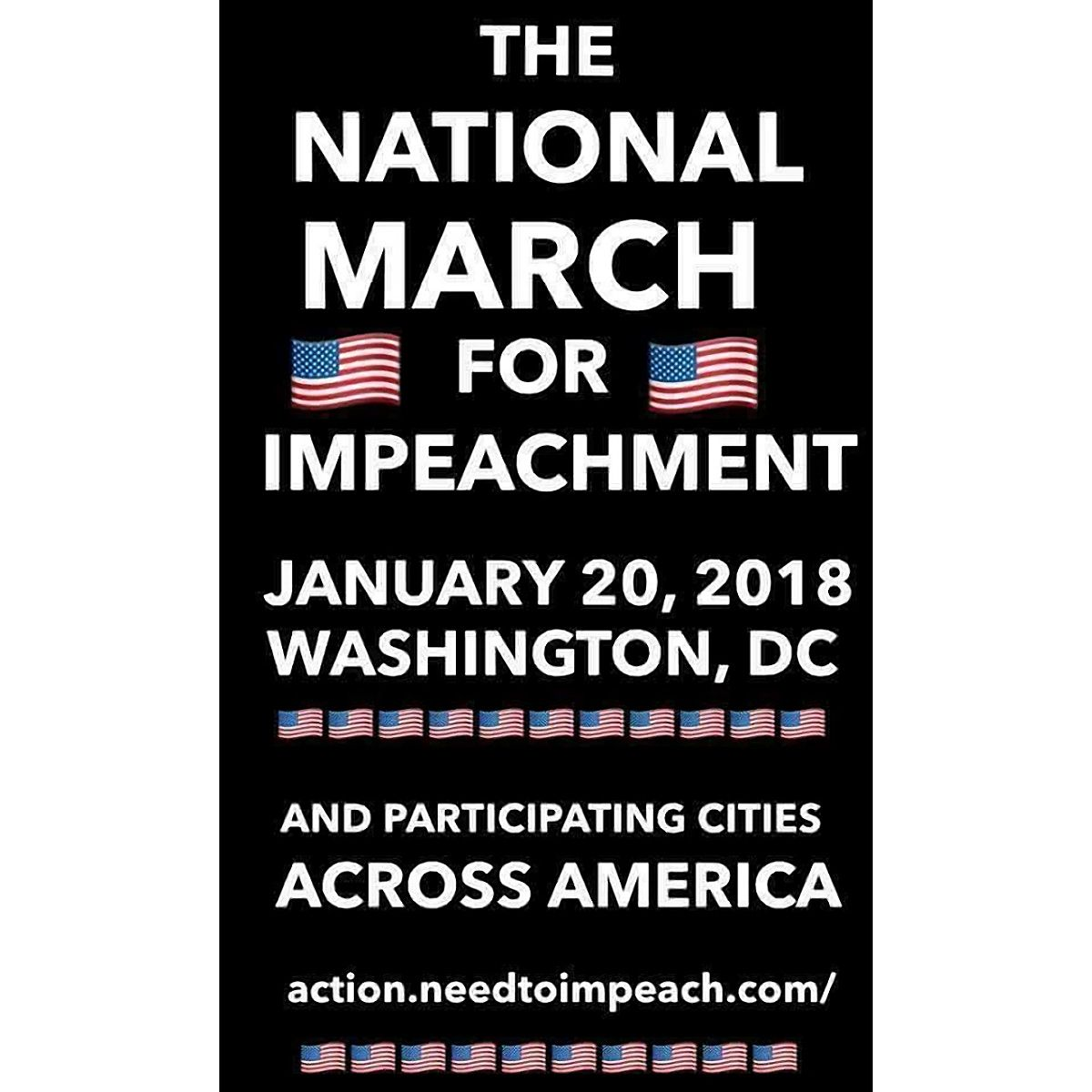 @realDonaldTrump IT'S A BEAUTIFUL DAY TO MARCH FOR YOUR IMPEACHMENT DUMMIE. https://t.co/SEM0q3rUsE