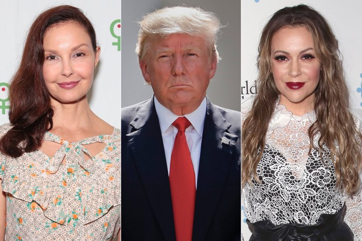 Stars support #WomensMarch rallies as Tr...