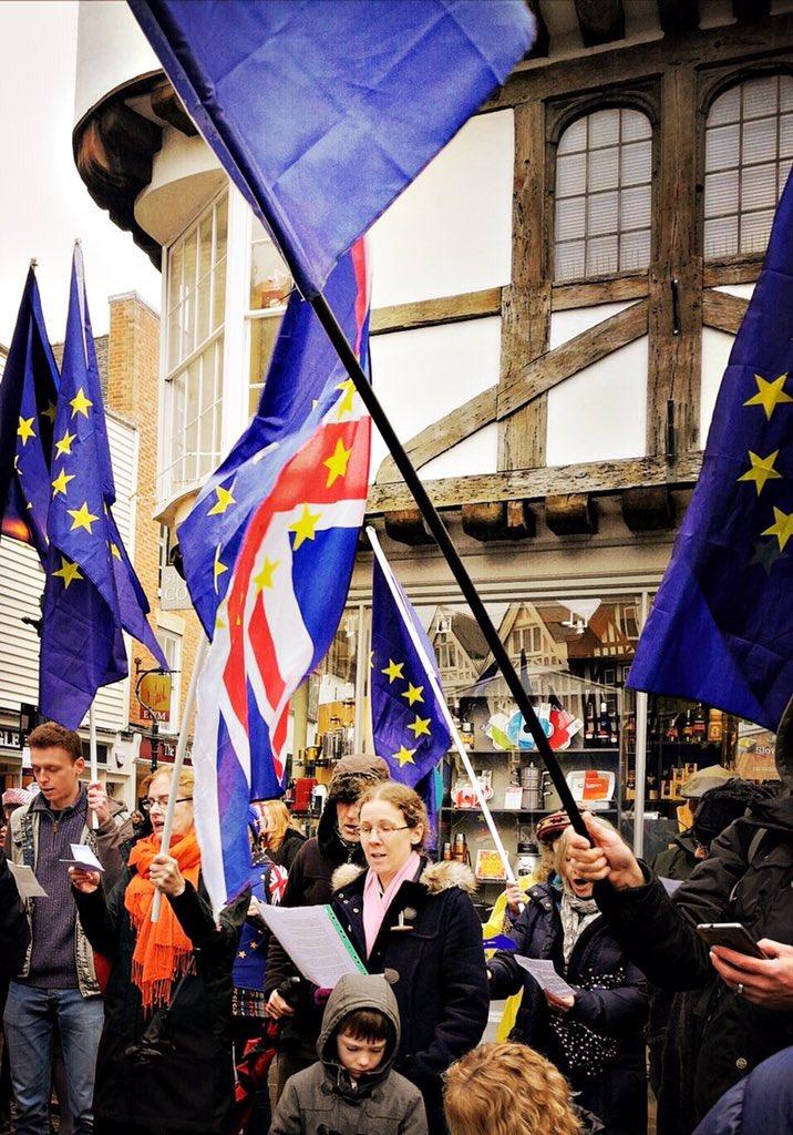 #CanterburyFlashMob #StopBrexit2018 @ct4...