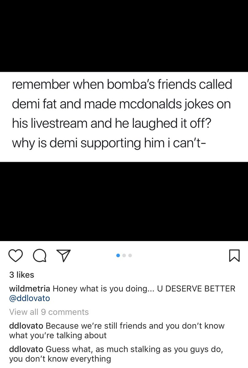 Demi commented on this Instagram post: h...