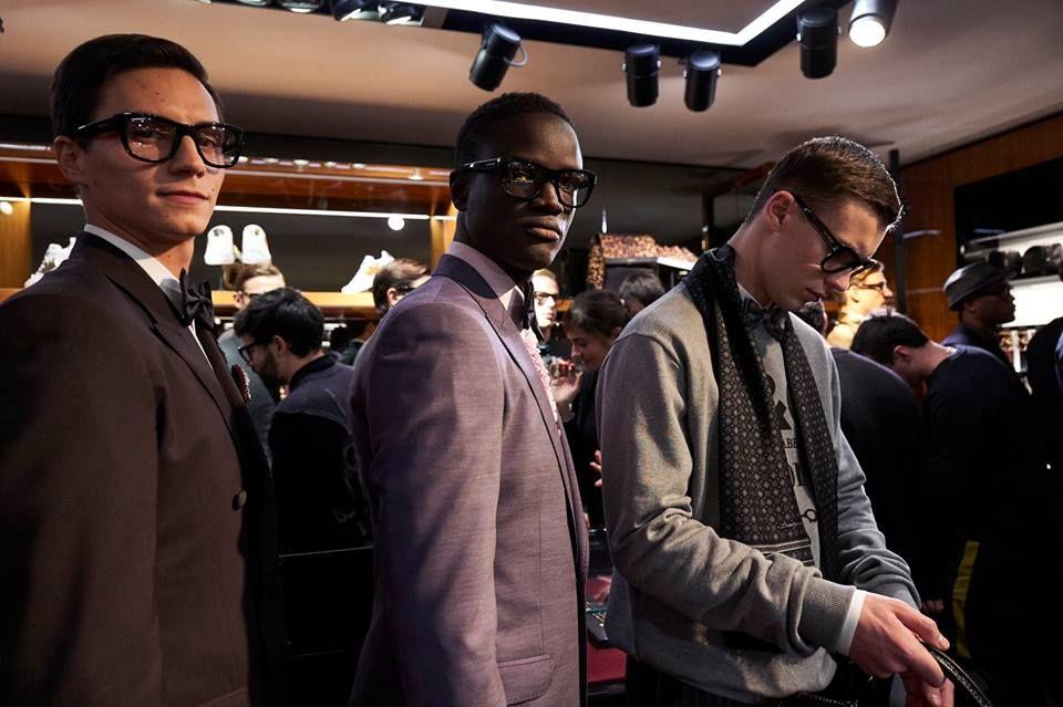 ミラノの百貨店 リナシェンテで行われた #DGSARTORIA メンズ ファッシ...