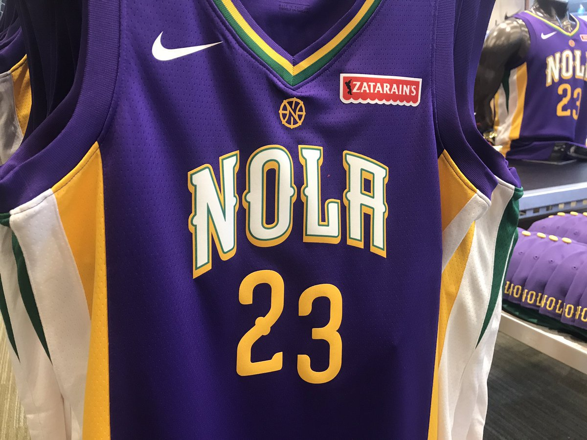 New Orleans Pelicans Mardi Gras Jersey