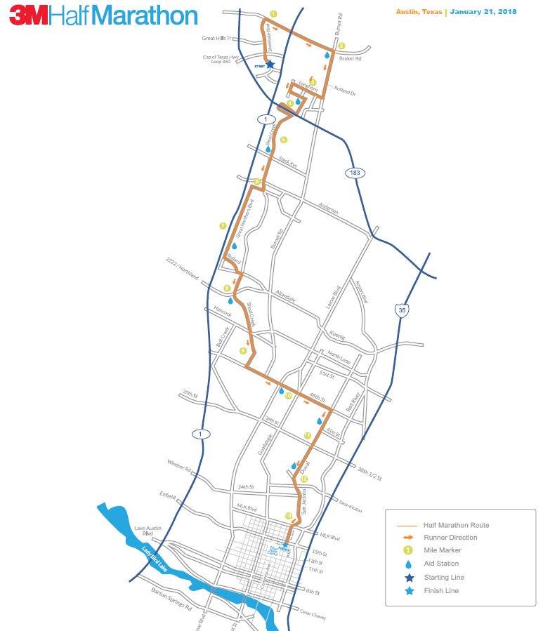 Kxan Traffic Map.Kxan News On Twitter Traffic Alert The 3m Half Marathon Is Sunday