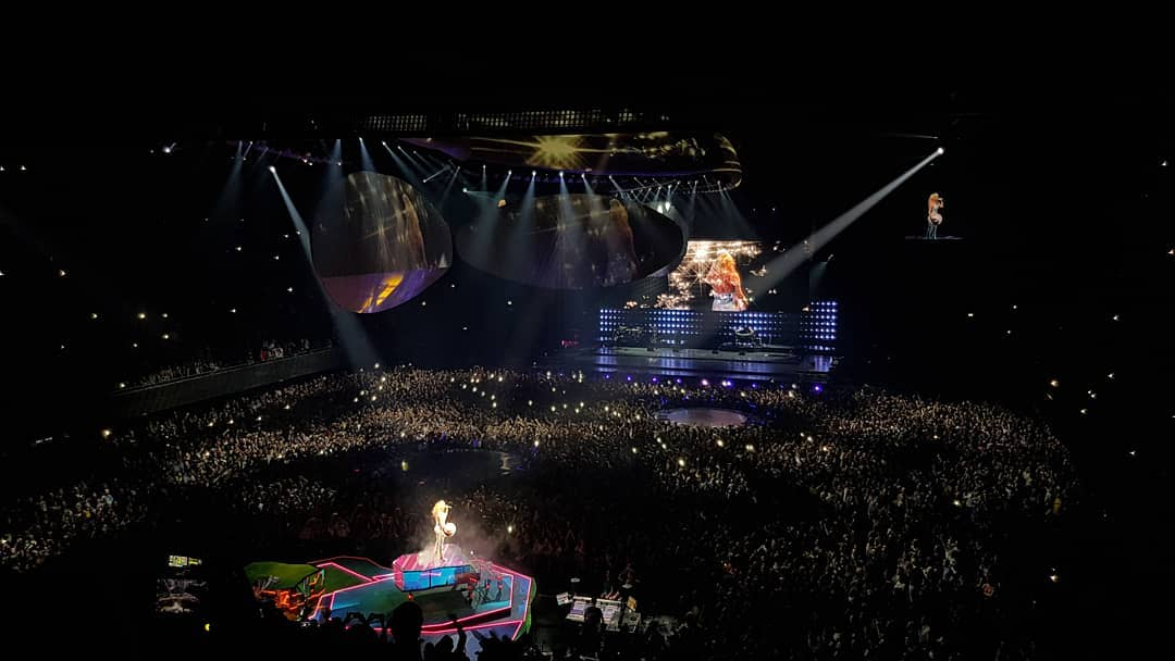 Lady Gaga has finished her sold out show...