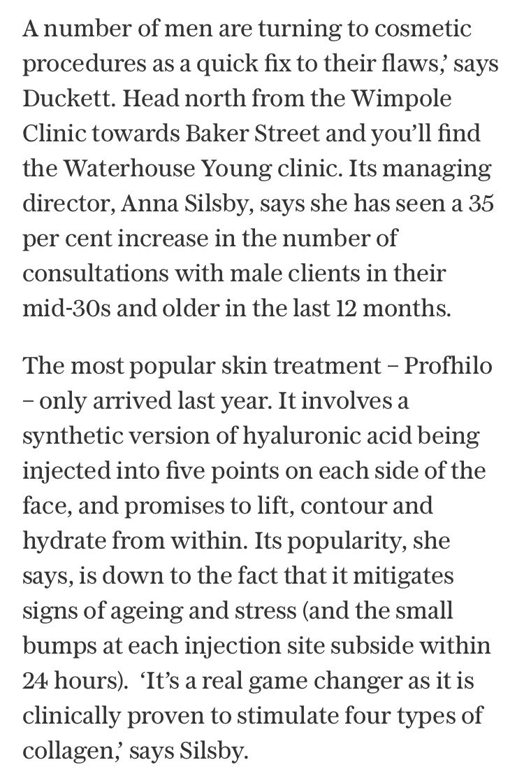 RT @ha_dermauk: #Profhilo #male #grooming Waterhouse Young The Telegraph https://t.co/bRFDvQ8BBp