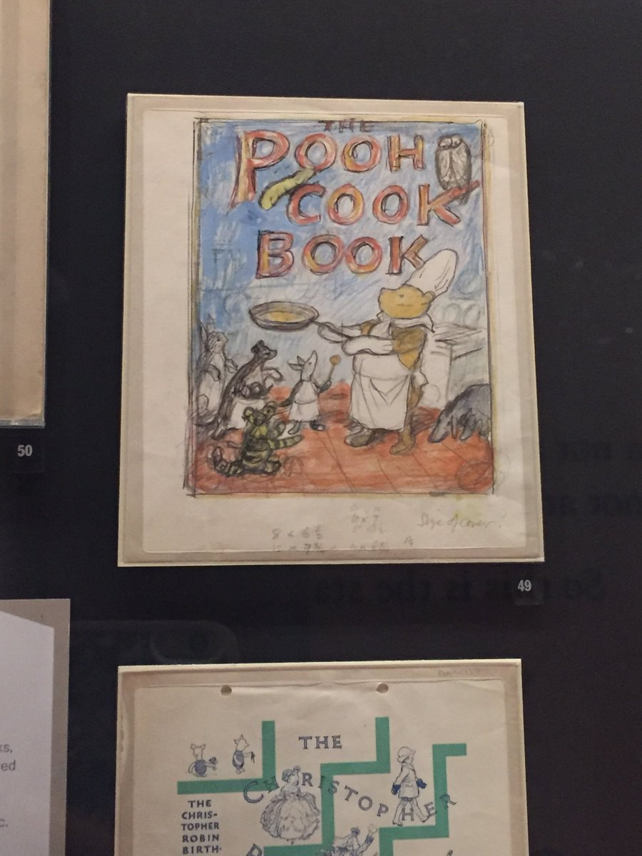 So the Winnie-the-Pooh exhibition @V_and_A is just lovely. And I even saw the original sketch for my favourite childhood cookbook 🐻 🍯