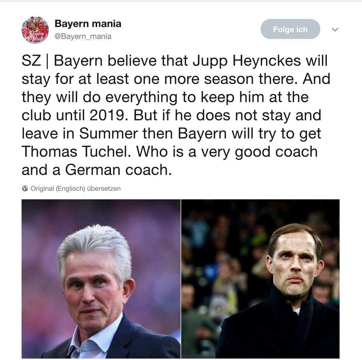 @cfbayern Würde ja mit deinen Informationen übereinstimmen :-) @FCBayern @TTuchelofficial #Heynckes https://t.co/1rPO6TG2nl