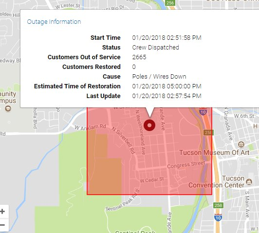 Kold News 13 On Twitter Tep Power Outage Affecting Thousands Of