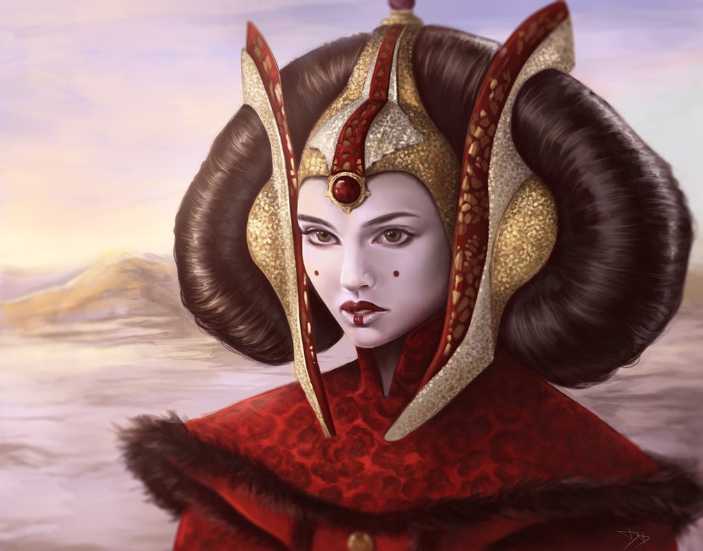 Royalty. Political strategist. Good with a blaster. Fashion icon. This gorgeous digital painting is a fitting tribute to Padme Amidala. Art by @dzydar. #StarWars https://t.co/jSJSSCy3JW