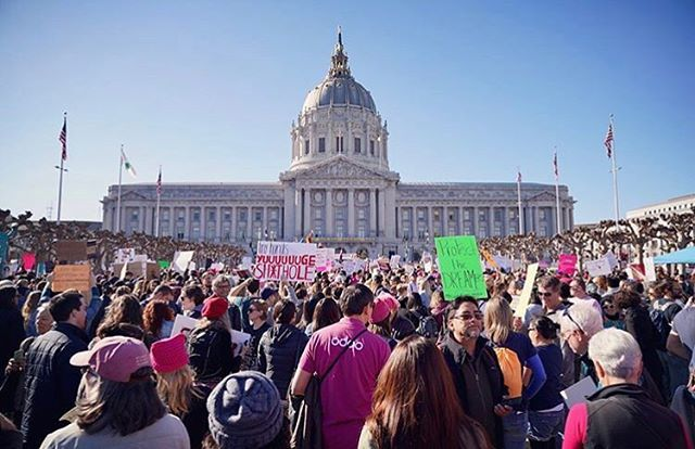 From Instagram: Are you at the Women's March today? Thanks @GcMAK for the #regram  #womensmarch #sf #bayarea https://t.co/ZhxcRbjB83