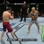 RT @ufc: OUT OF NOWHERE!  @MakhachevMMA opens up #...