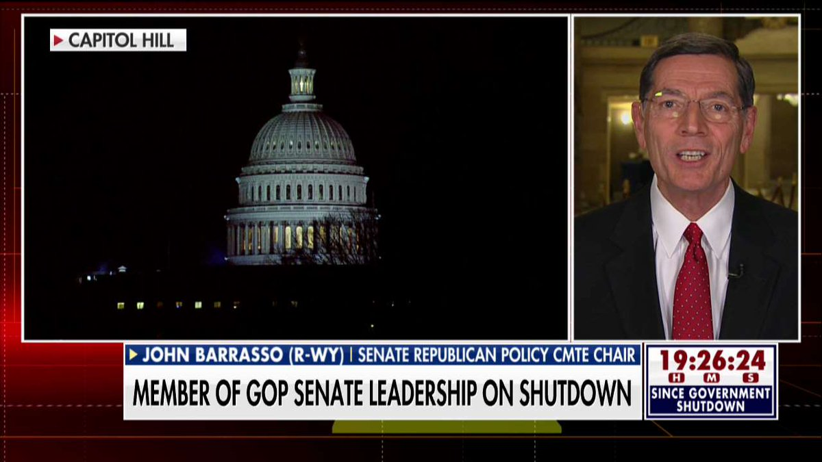 .@SenJohnBarrasso: 'The Democrats...once again holding the American people hostage, the citizens of this country hostage, because of the issue of illegal immigration.'
