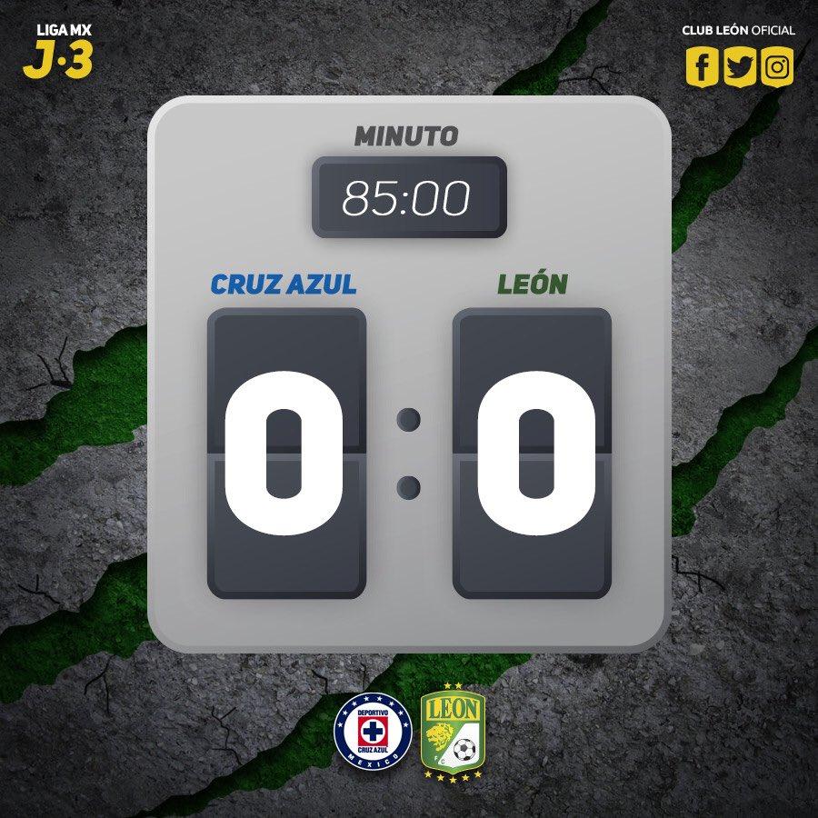 #J3 | #LigaMx | #CAZvsLEO   El marcador...