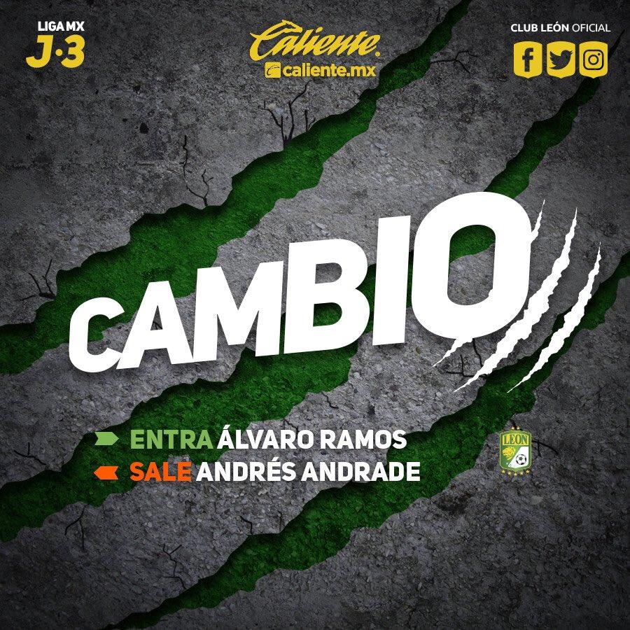 #J3 | #LigaMx | #CAZvsLEO   Último cambi...