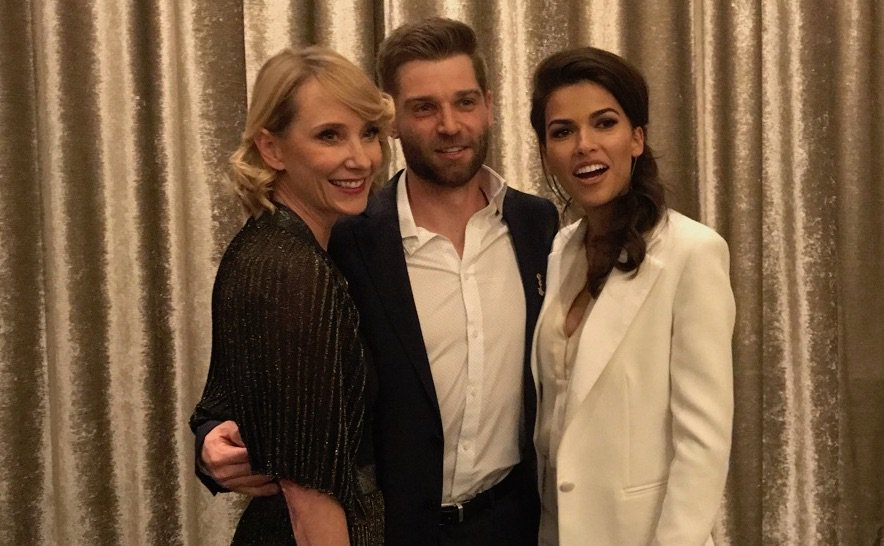 .@Mike_Vogel, @SofiaPernas and @AnneHeche are quite the trio at the 3rd annual #Vettys. #TheBrave