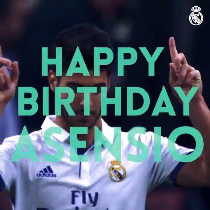 🎂🎉🎁 本日は #アセンシオ (@marcoasensio10)、22歳の誕生日...