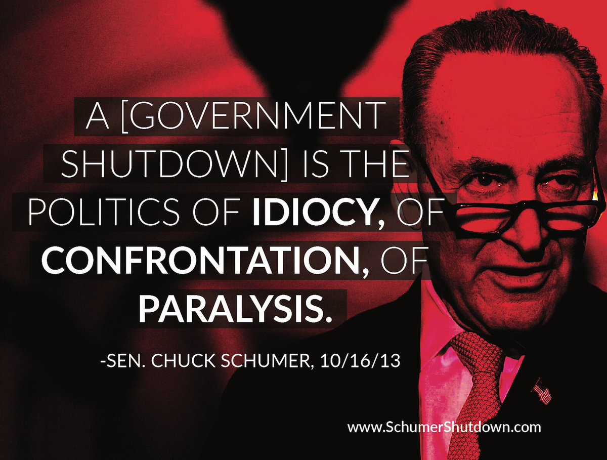 THIS is the poster that @HouseDemocrats tried to prevent me from displaying on the House floor earlier today. They do not want the American people to know the facts about the #SchumerShutdown. RT this to make sure their hypocrisy gets out.