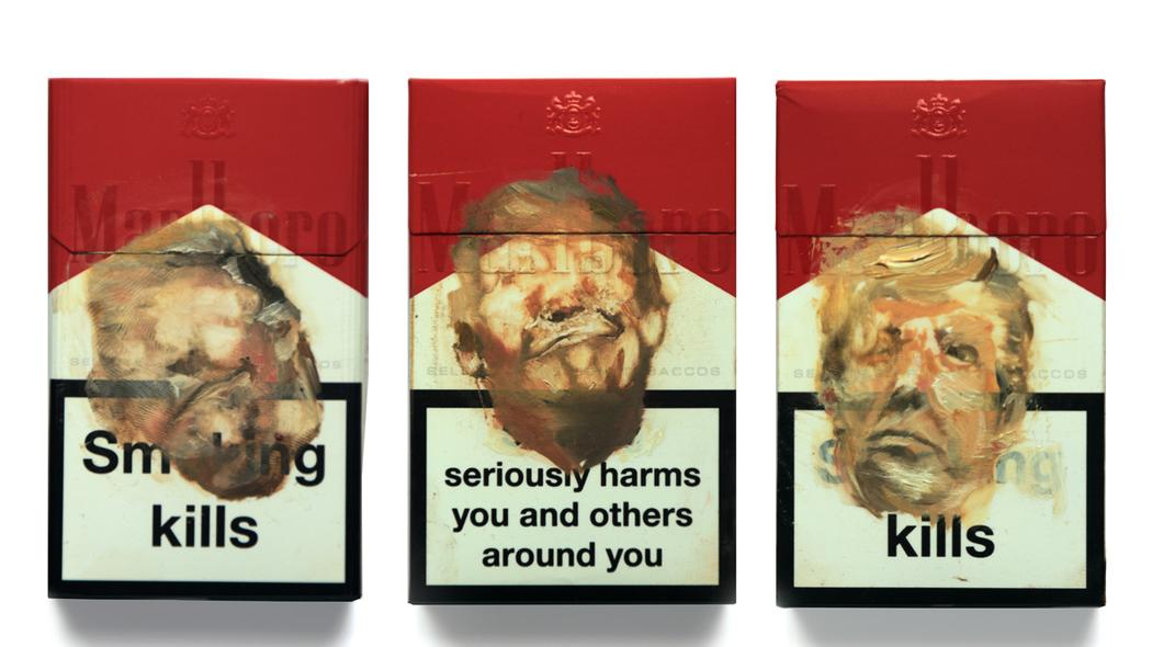 meet the artist painting donald trump's face on the front of cigarette packets https://t.co/JttyL3BJ7h