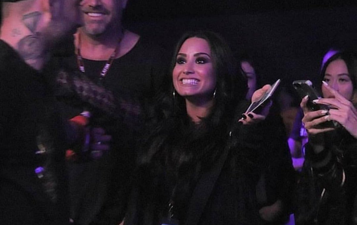 Demi Lovato at Bellator 192 at The Forum...