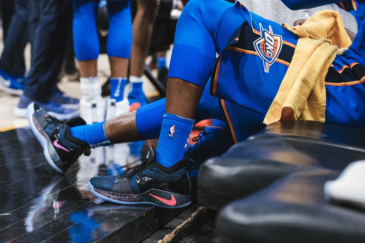 RT @NBA: Paul George debuts his new kicks with 36 points & 7 boards in 148-124 @okcthunder victory! https://t.co/OpJn04mfU4
