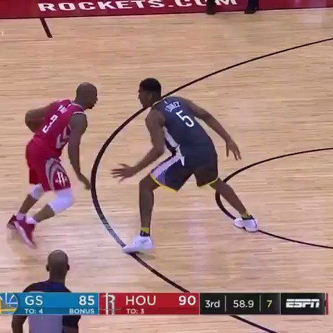 Chris Paul goes for 33 PTS, 7 AST and 11 REB in the @HoustonRockets' win!  #Rockets https://t.co/BgipTZ3rDT