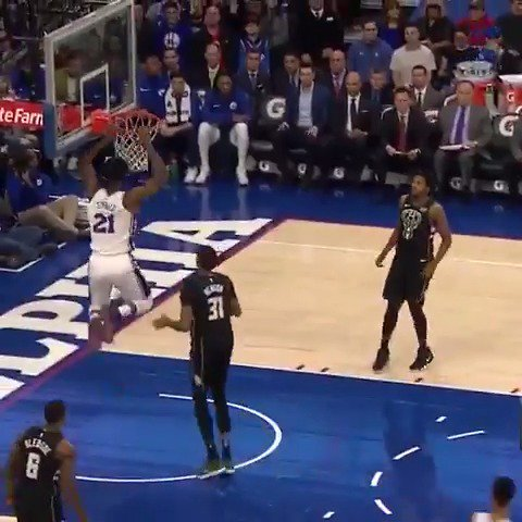 #JoelEmbiid scores 29 PTS and grabs 9 REB, as the @Sixers win their third straight game!  #HereTheyCome https://t.co/14jNjmn2Io