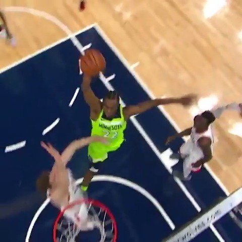 Andrew Wiggins' two monster dunks highlight his 29 PT performance in the @Timberwolves' win!  #AllEyesNorth https://t.co/xf3G1UCg3h