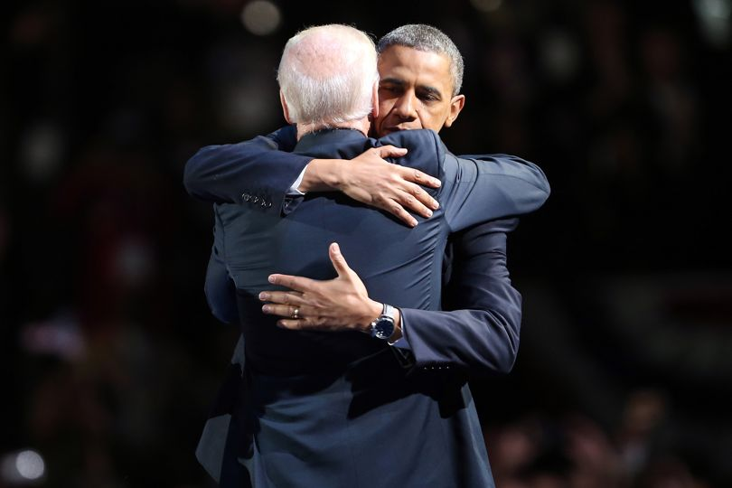 """""""Oval Office friends Barack Obama and @JoeBiden's numerous, warm, on-camera embraces conveyed an unbreakable bond."""" #NationalHugDay https://t.co/z2GXqX2teG"""