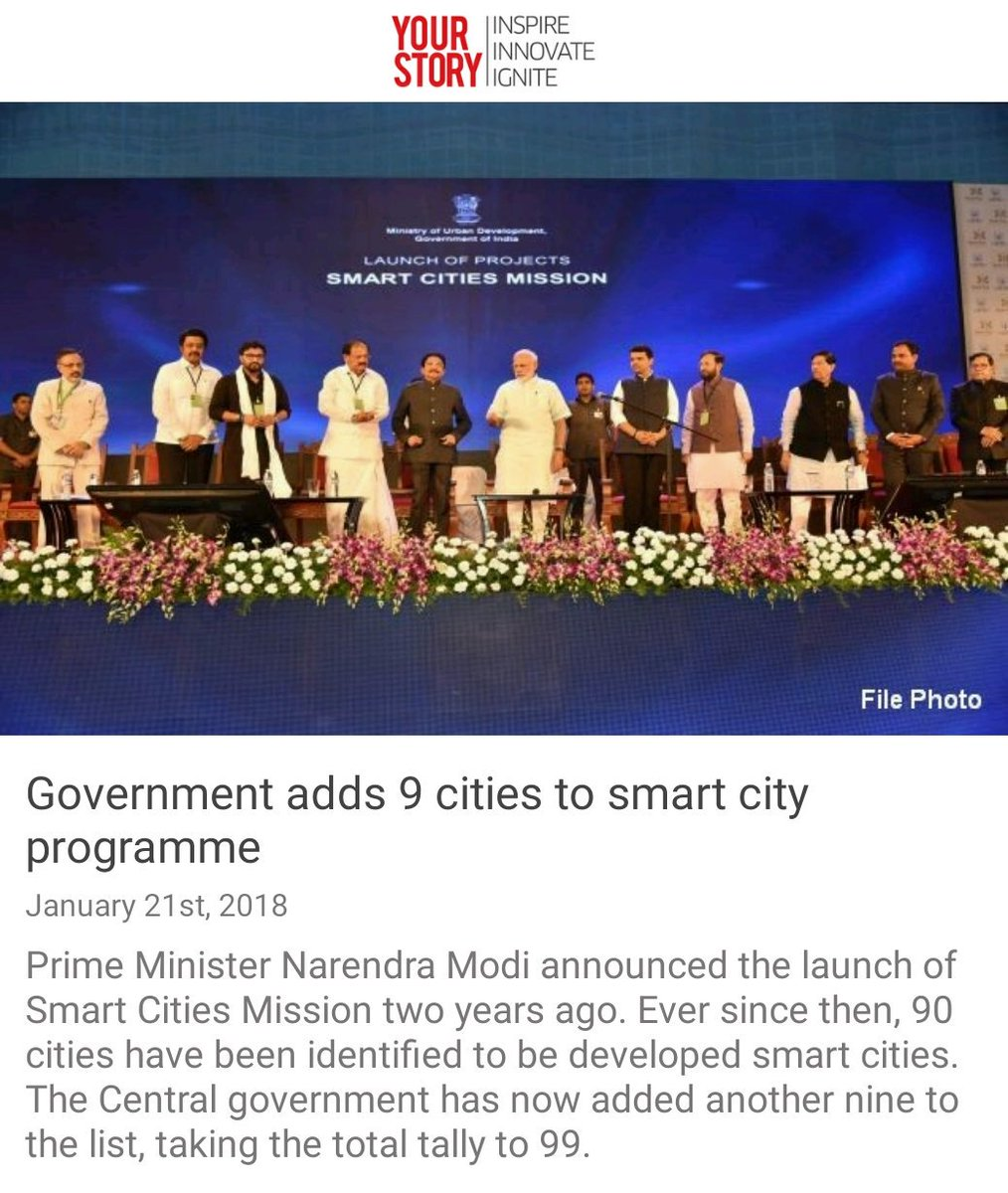 Government adds 9 cities to smart city programme.  https://t.co/vB3iN1rW4y via NMApp https://t.co/ZveQqsmjD5