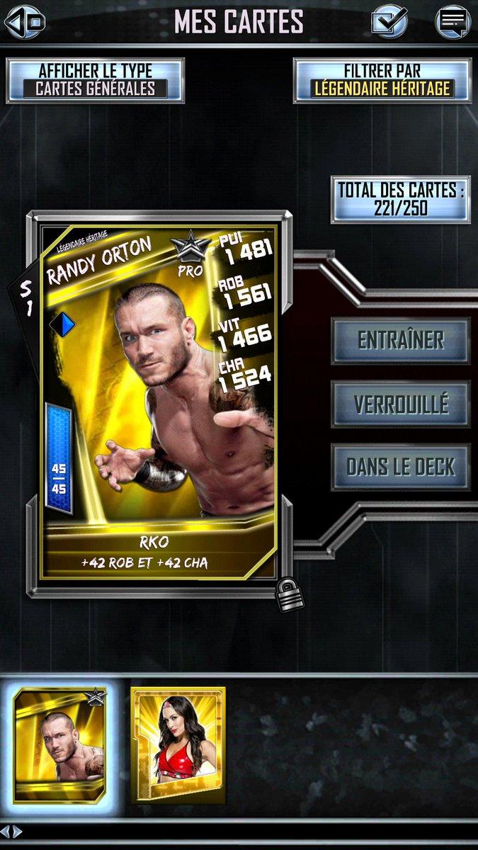 RT @FrWWESupercard: Je suis le seul à encore avoir des cartes héritages ? 😅 @WWESuperCardFR_ @WWESuperCard https://t.co/bZZKdq07Np