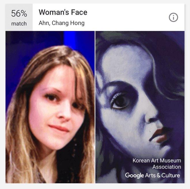 korean face match app