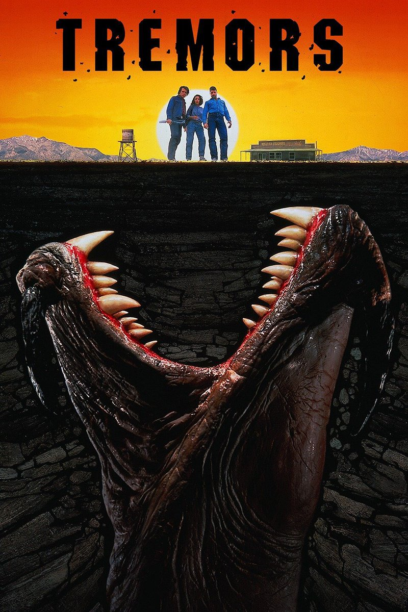 I've seen five movies today and when I just got back to my room Tremors was just starting on HBO. Bye bye sleep.