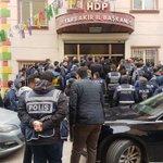 RT @HDPAMED21: Açıklamamız öncesi il binamız işgal...