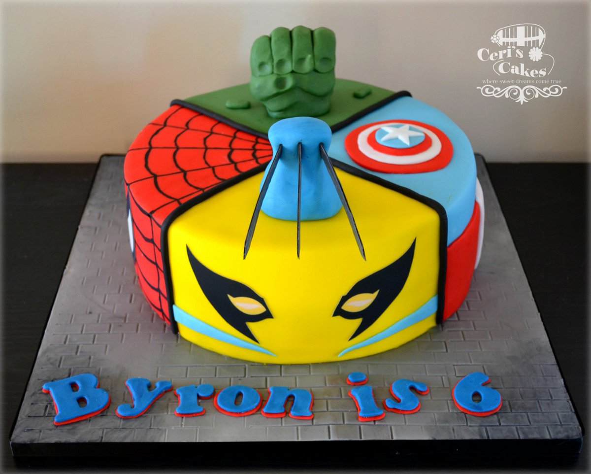 Prime Ceris Cakes On Twitter Superhero Cake Vanilla Sponge Cake Personalised Birthday Cards Veneteletsinfo