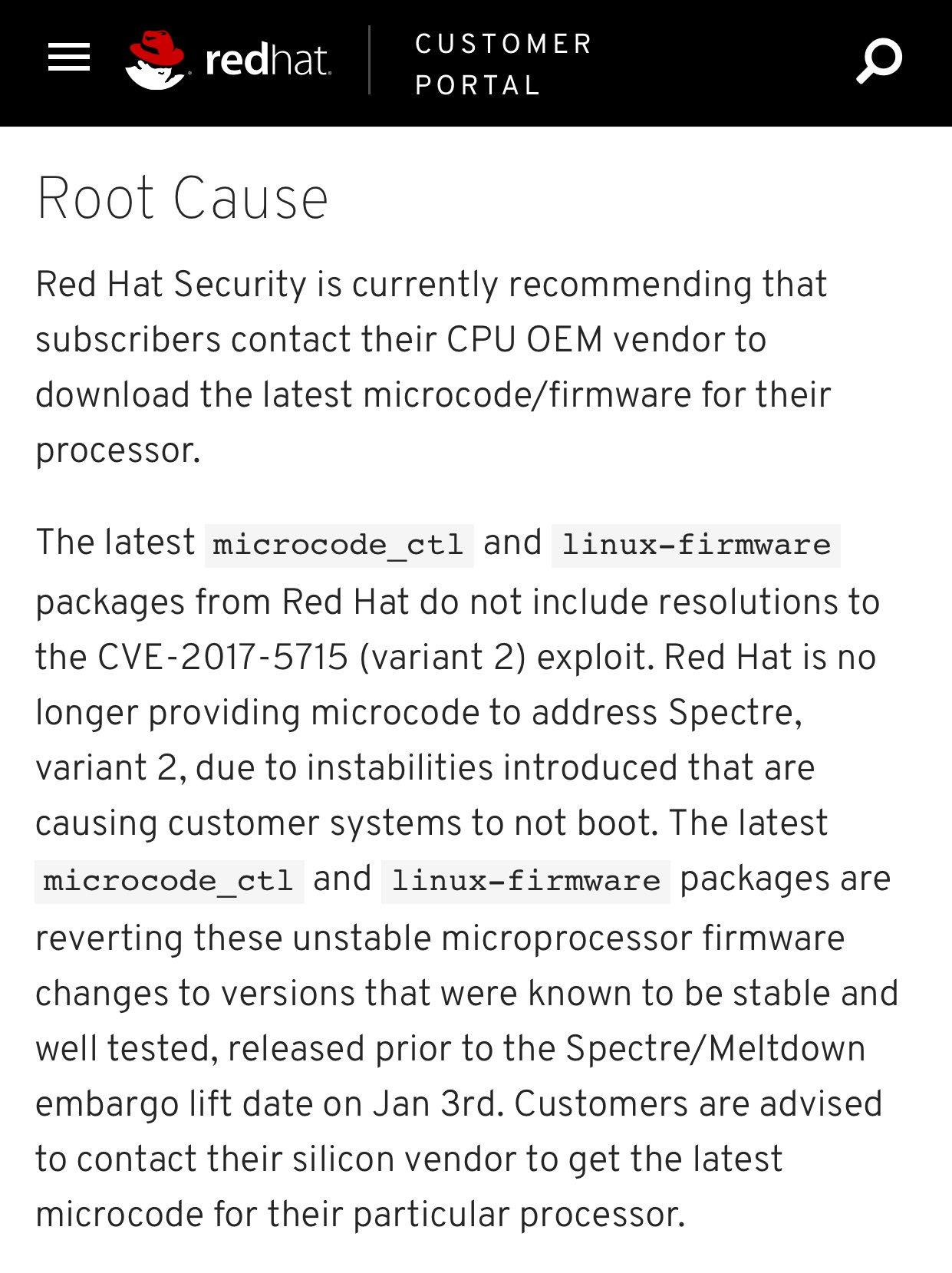 January Intel Meltdown Patches - Patch - BigFix Forum