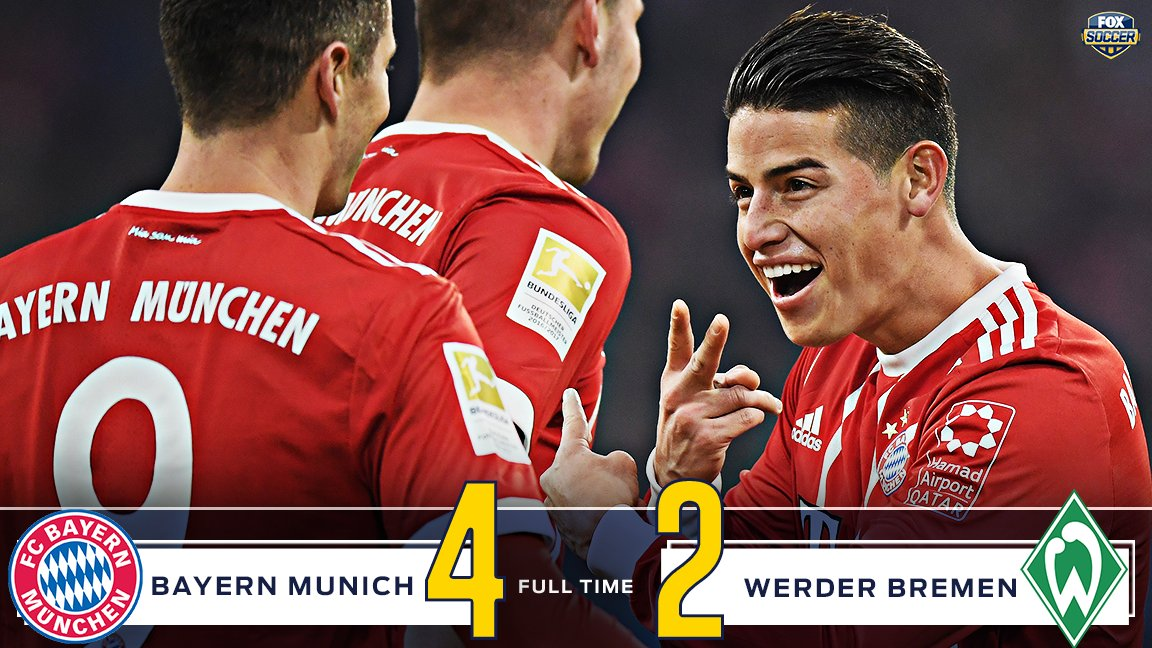 Lewandowski and Müller get a brace each to give Bayern a 16 point lead at the top of the table.