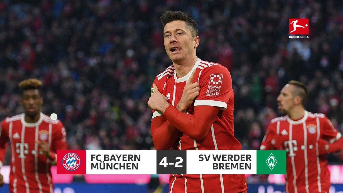 What a game! Bitter pill to swallow for @werderbremen_en.   The 3️⃣ points stay in Munich 🍺 #FCBSVW