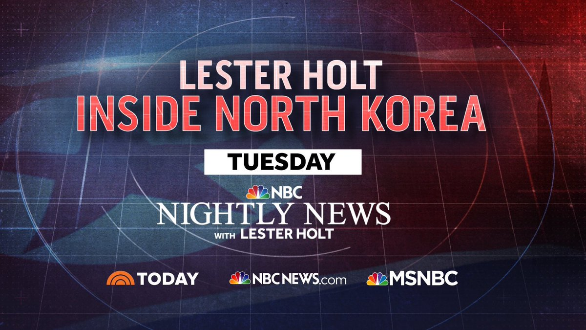 Tweet at us your top North Korea questions, and be sure to tune in t @NBCNightlyNewso  wi @LesterHoltNBCth  on Tuesday as he anchors live from Seoul, South Korea, and gives an inside look at his entire trip.