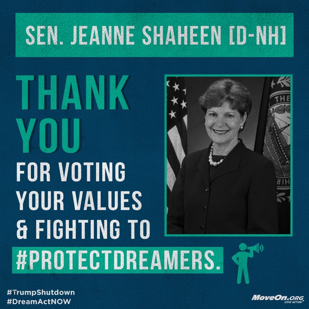 .@SenatorShaheen, thank you for being on the right side of history. Don't stop fighting for the #DreamAct and the future of our country.