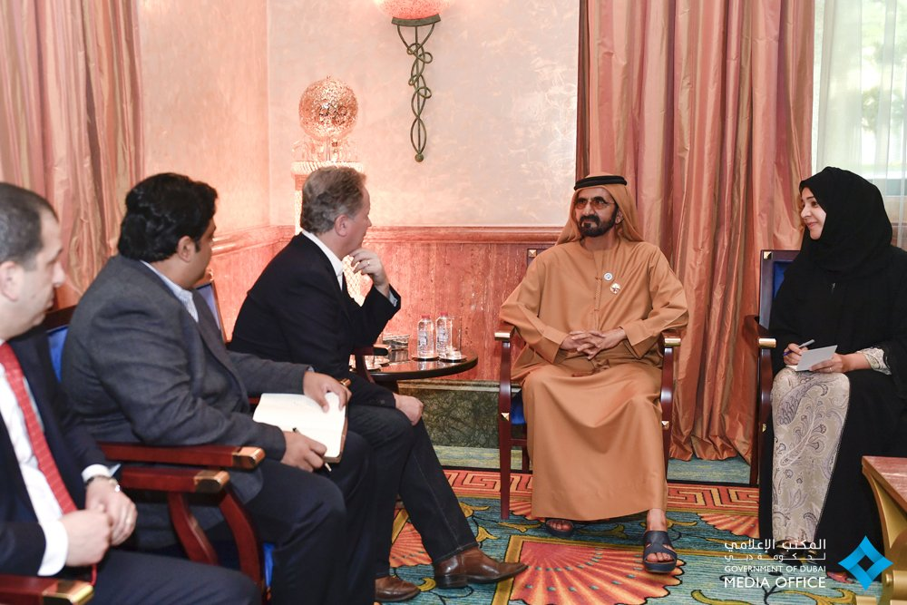 . @HHShkMohd discusses with @WFPChief David Beasley matters related to international humanitarian aid. #UAE