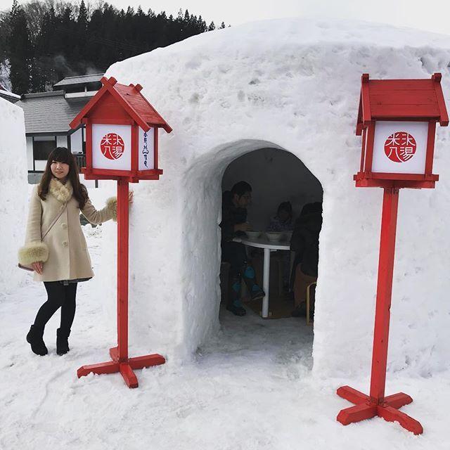 こんなのが3つ並んでて、ラーメンを出前できますよ。 #かまくら村 #snow #小野川温泉 #近いよ米沢 https://t.co/wr0DsffNUT