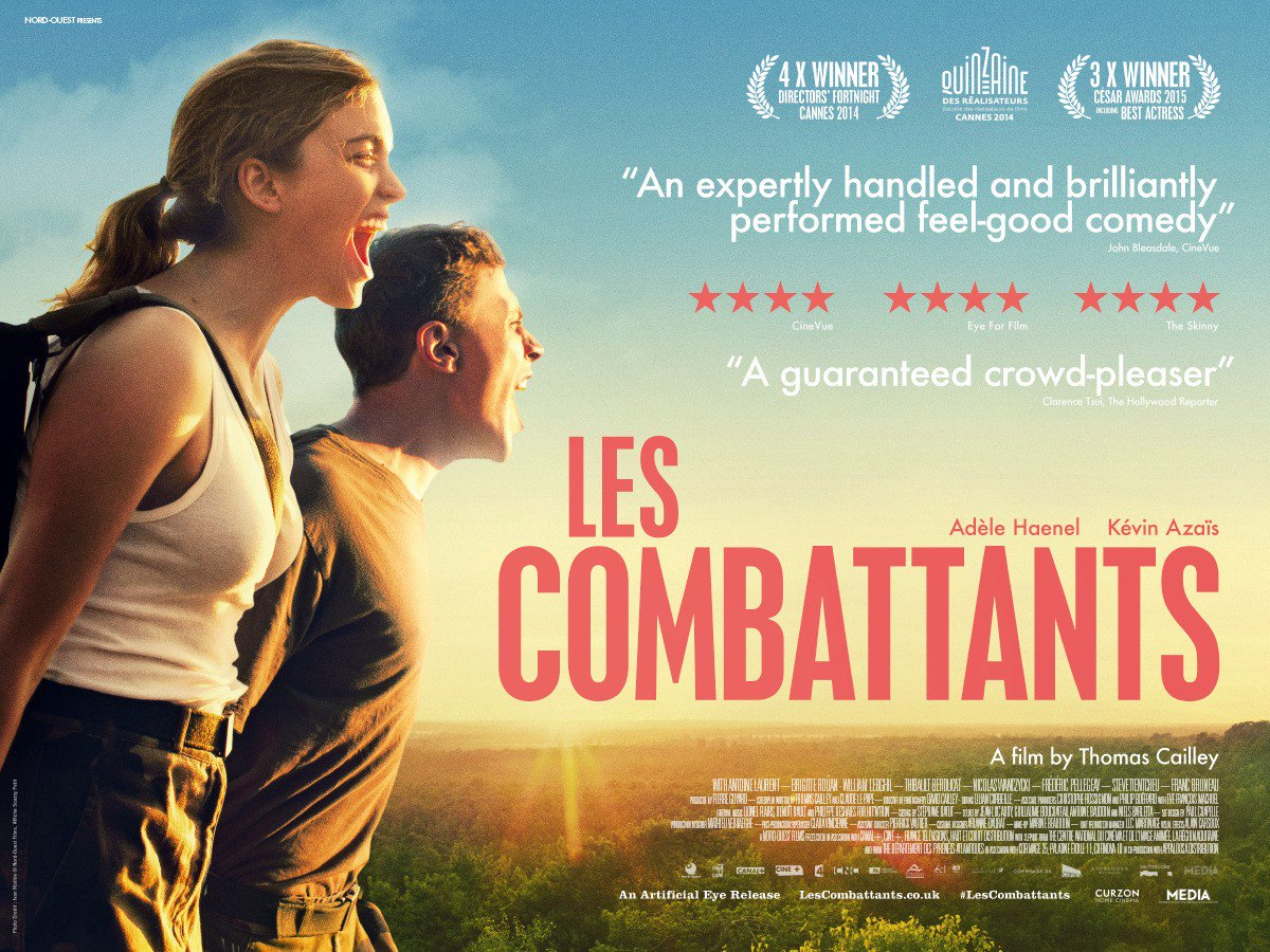 Boy meets girl. Girl wants to join the army. Boy and girl go to army induction camp. They fight. Award-winning Les Combattants is a wonderful French coming-of-age comedy starring the excellent Adèle Haenel. 1.55am.