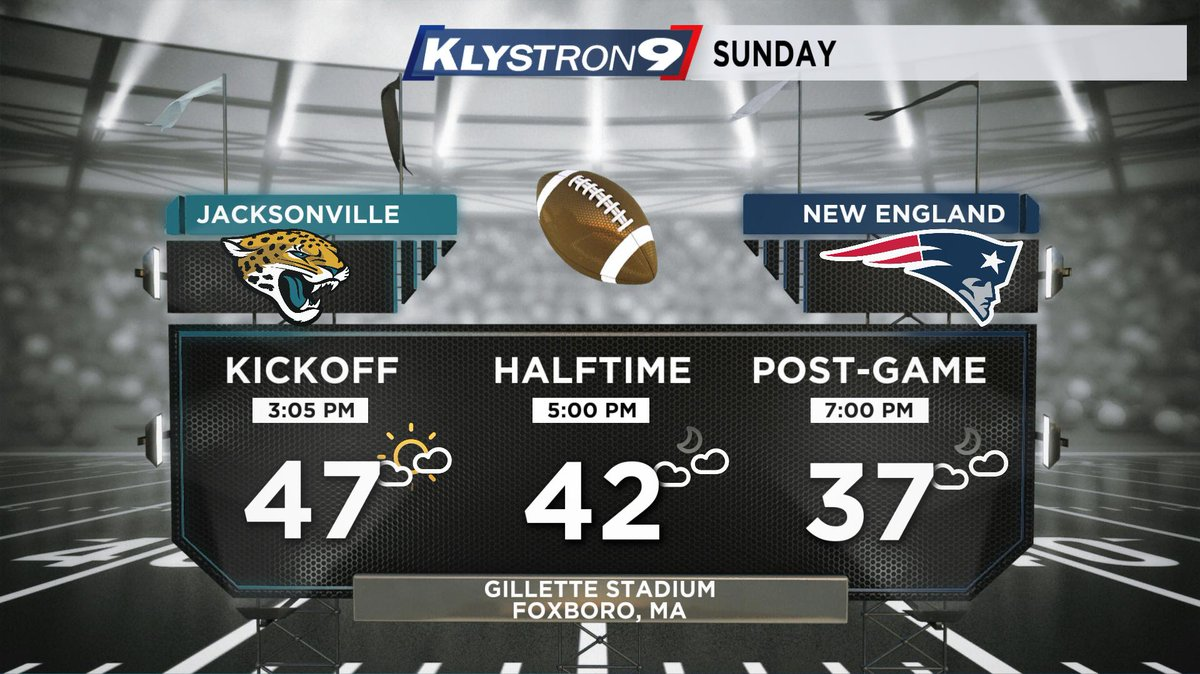 Josh Linker: No problems in the weather for the AFC Championship game later in New England. Unusually warm for January. No weather excuse for the losing team.