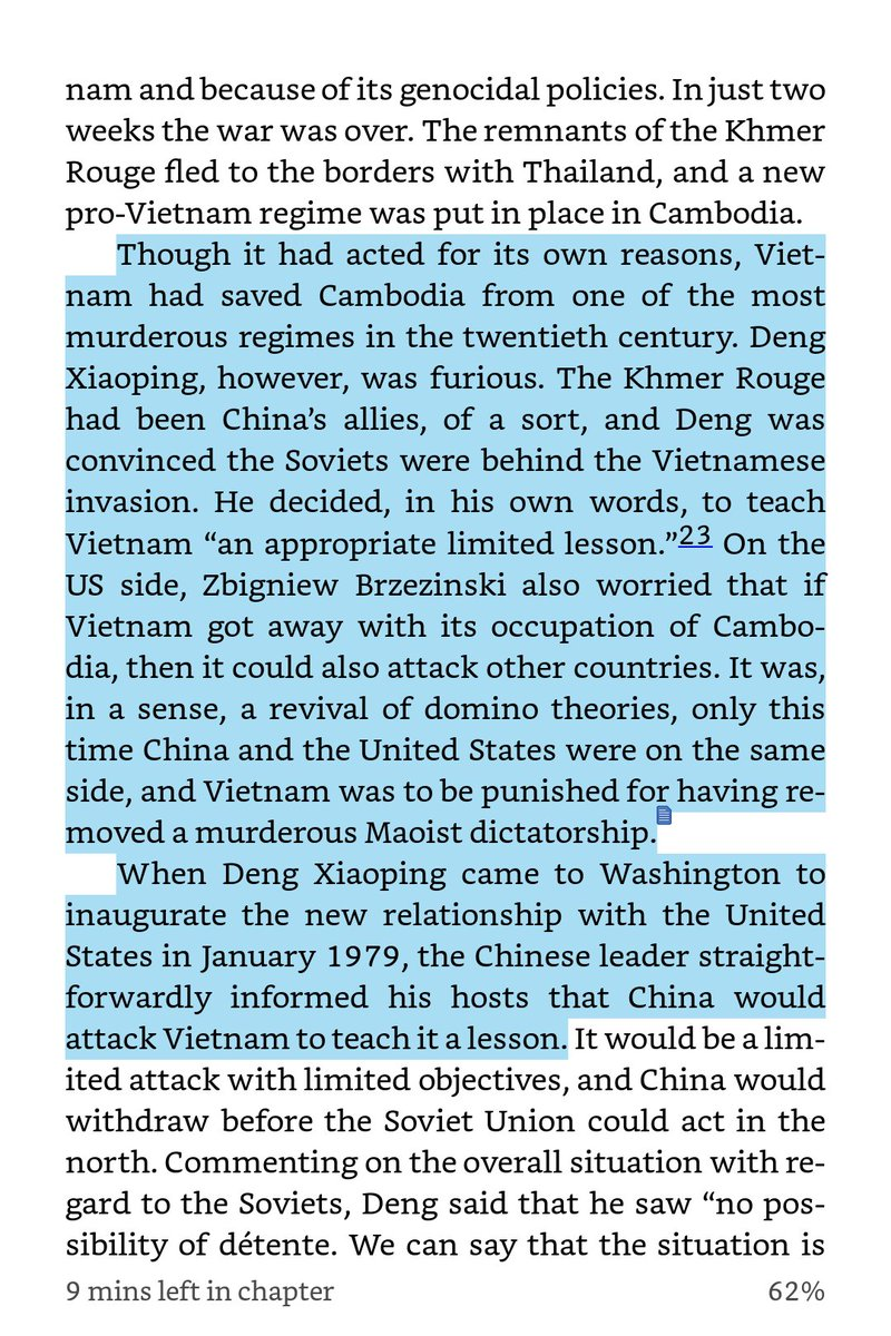 Yall love Deng Xiaoping because he made China capitalist but remember when he became enraged with communist Vietnam for toppling the murderous Khmer Rouge regime