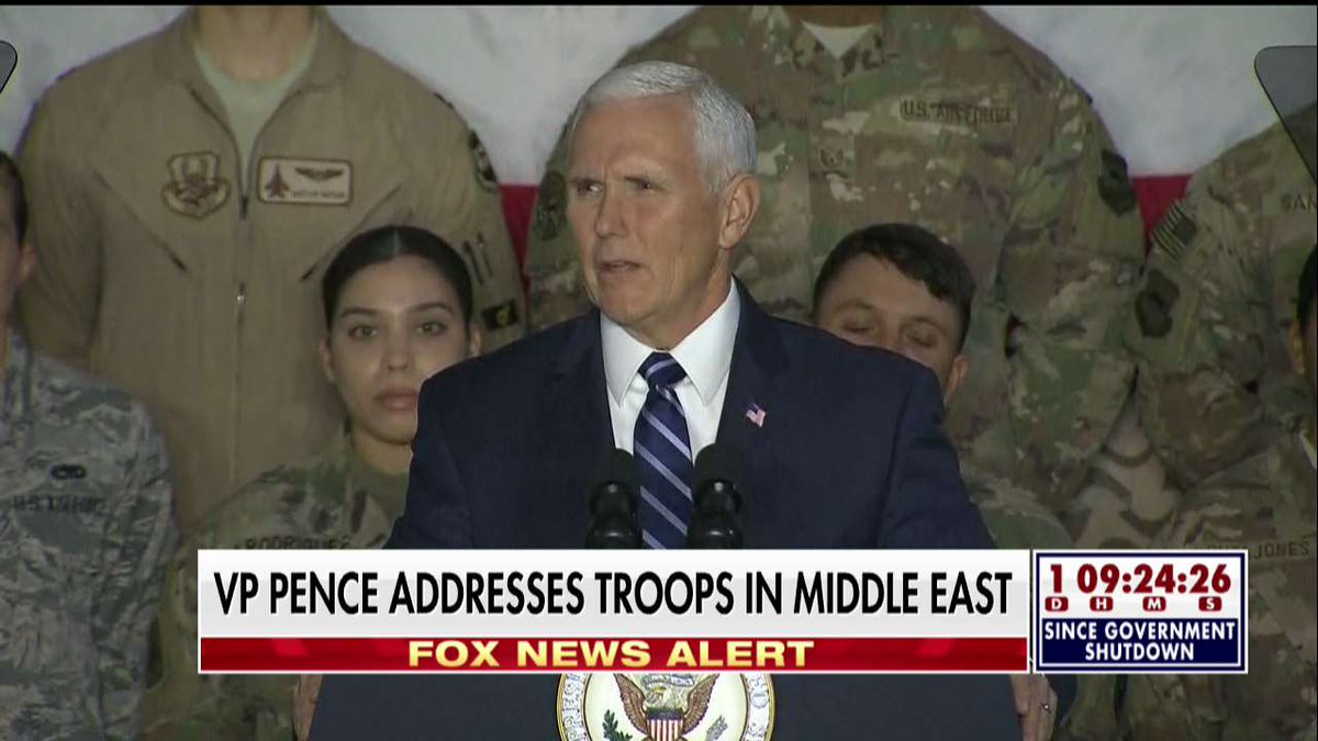 .@VP to troops: 'President Donald Trump has your back.'