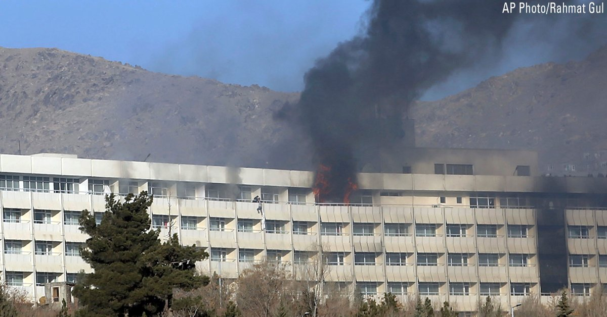 JUST IN: Kabul Intercontinental Hotel siege leaves more than 40 dead, Afghanistan official says https://t.co/StF71dOd8Y